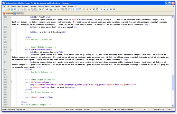 Web Page Html Code Design