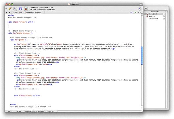 TextWrangler screenshot
