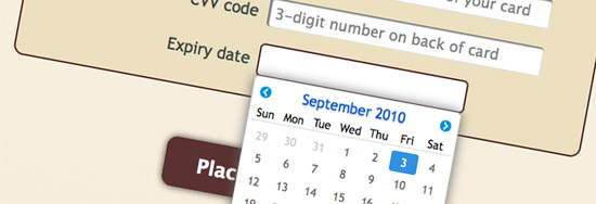 Screenshot of jQuery Tools' calendar