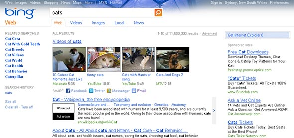 Bing in IE6