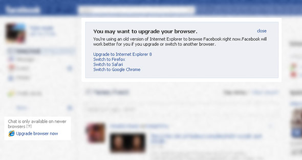 Facebook in IE6