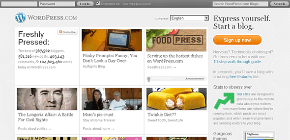 WordPress.com in Firefox 3.6