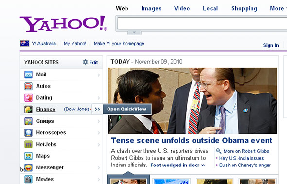 Yahoo! in IE6