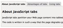 JavaScript tabs screenshot