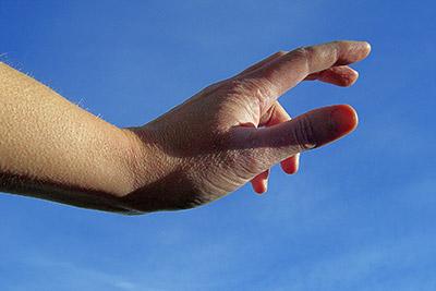 Hand grabbing