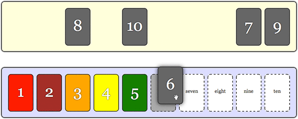 Number cards game