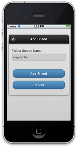 Screenshot of the Add Friend dialog