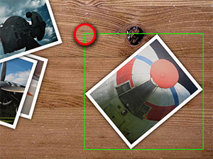 Rotated image with bounding box