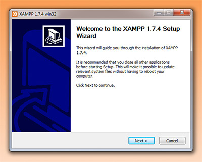 XAMPP installer screenshot