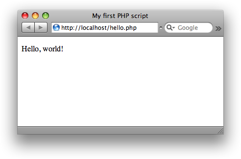 Running your first PHP script