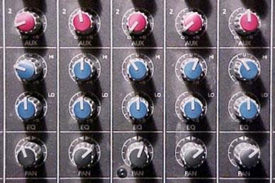 Mixing desk dials