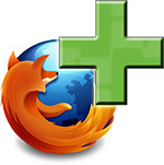 Firefox logo with plus sign