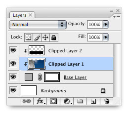 Multi-layer clipping mask