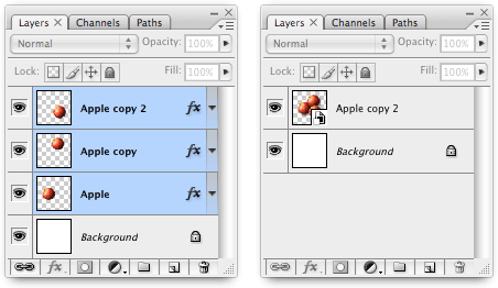 Converting layers to a Smart Object