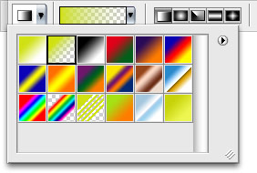 Gradient Picker, Foreground to Transparent