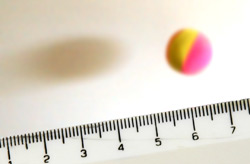 Bouncing ball and ruler