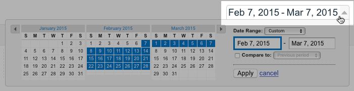 Google Analytics date picker