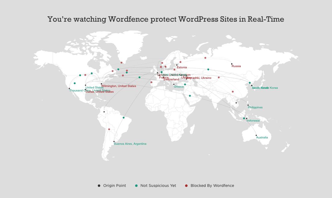 Wordfence map