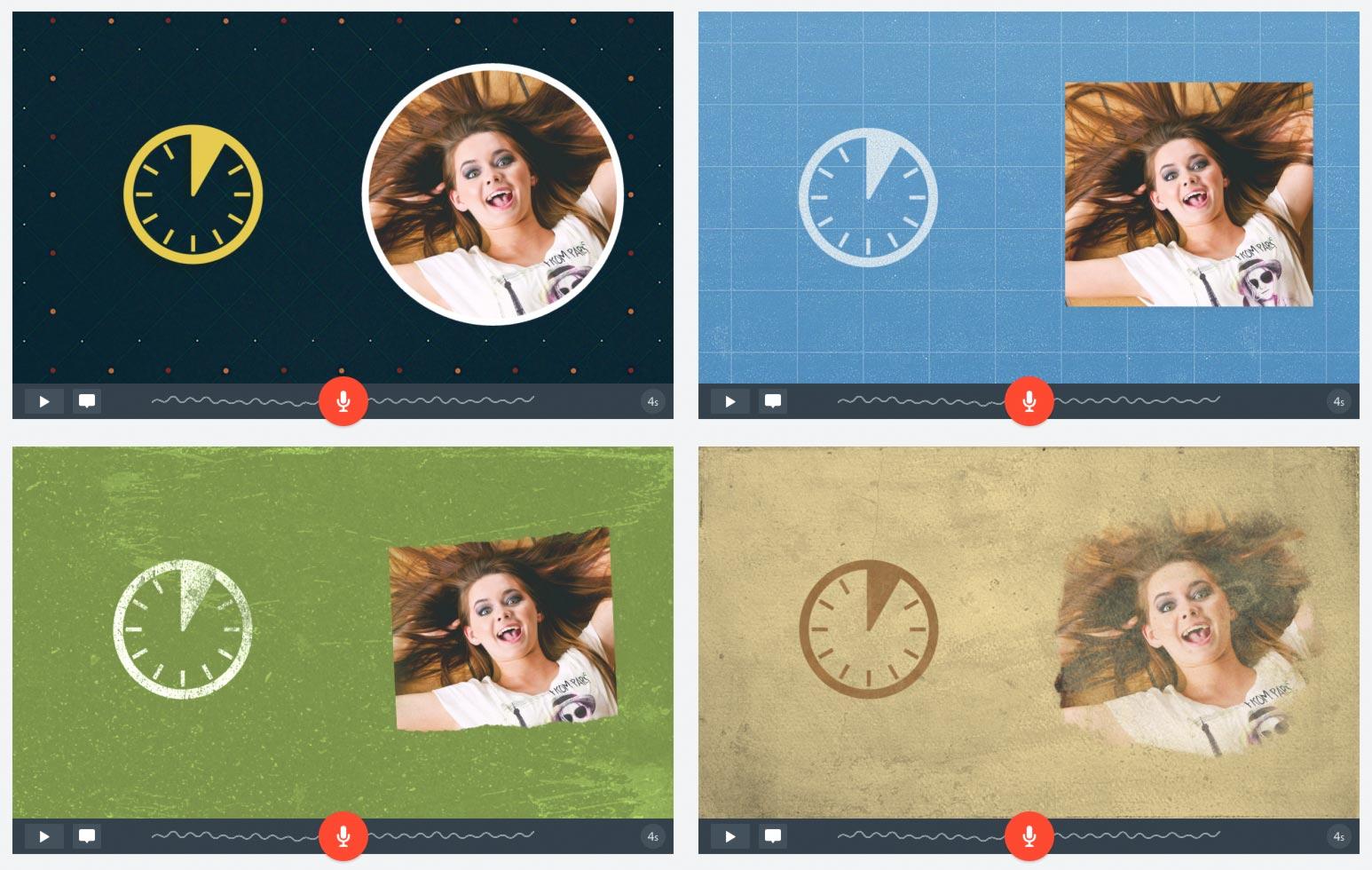 Adobe Spark Video: themes