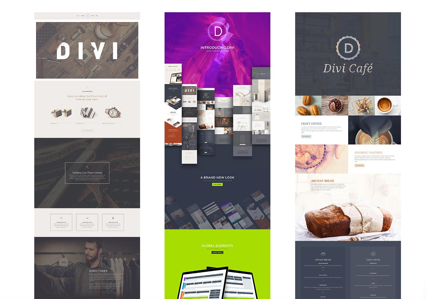 Divi theme variations